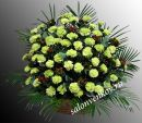 Траурная корзина из живых цветов N63, высота 70см
